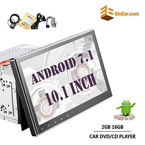 New Arrival!! 10.1 Inch Latest Android 7.1 Quad Core Double Din Car Stereo Car DVD/CD Player In Dash GPS Navigation with Capacitive Touchscreen Support Bluetooth WIFI AM/FM Reverse Camera Subwoofer