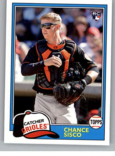 - 2018 Topps Archives Baseball #211 Chance Sisco RC Rookie Card Baltimore Orioles 1981 Topps Design
