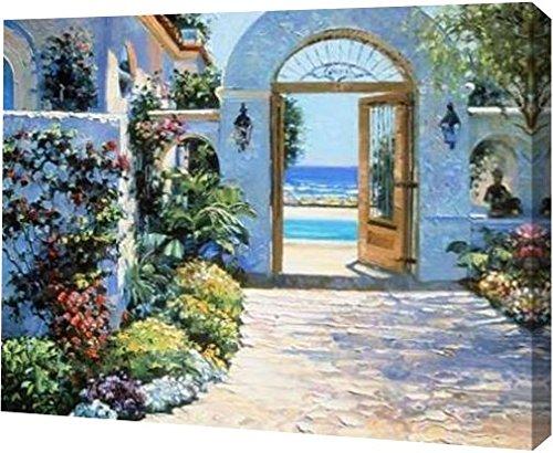 PrintArt GW-POD-33-B2753D-36x28 ''Hotel California'' by Howard Behrens Gallery Wrapped Giclee Canvas Art Print, 36'' x 28''