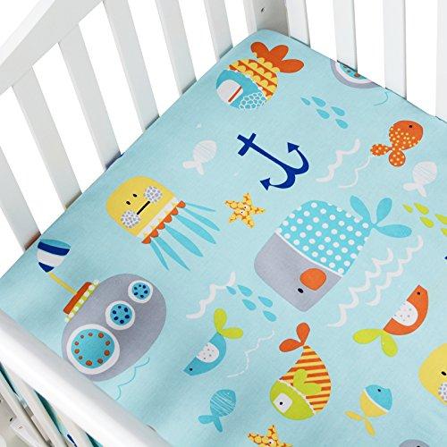 or Baby Crib Sheet Boys Girl Toddler Sheet Cotton Crib Mattress Sheet ()