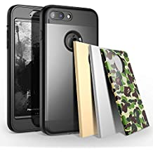 TOTU iPhone 7 Plus Case Water Resistant Shock Absorbing Falling Preventing Protective Case Best Heavy Duty 4 Interchangeable Covers for Apple iPhone 7 Plus 5.5 inch