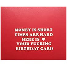Your Fucking Birthday Greeting Card - Pop up Cake