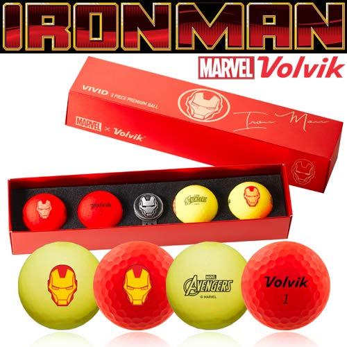 (ボルビック) VOLVIK Marvel Ironman Long 4 piece ball VIVD-マーベルアイアンマン (並行輸入品) One Size RED/YELLOW B07Q21N4P4