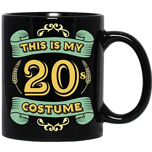 This Is My 20s Costume - Funny Halloween 20 Birthday Gag Gifts Idea Black Mug -