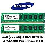 Samsung 4GB Dual-Channel kit (2x 2GB) DDR2800MHz PC2-6400240-pin Desktop RAM memory 3rd DIMM