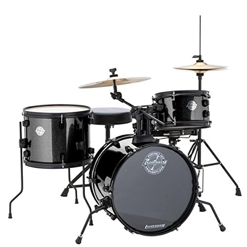 Questlove Pocket Kit 4 Piece Drum Set Black Sparkle Finish - Ludwig LC178X016