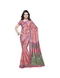 Triveni Jute Silk Printed Sarees(TSSU13304_Pink)