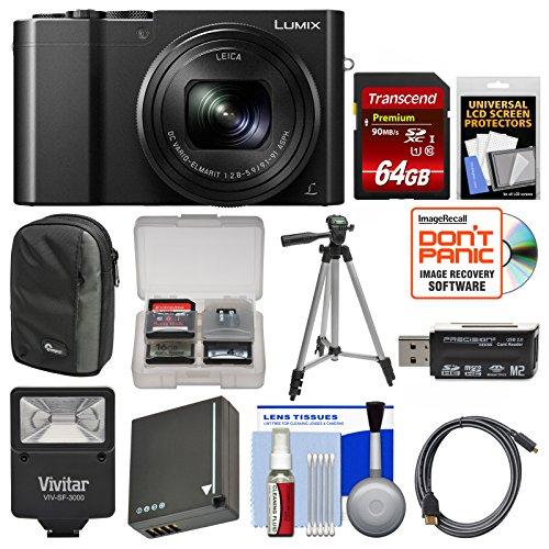 Panasonic Lumix DMC-ZS100 4K Wi-Fi Digital Camera  with 64GB