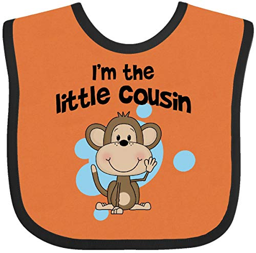 Blu Infant Bib - Inktastic - I'm The Little Cousin-monkey-blu Baby Bib Orange and Black c780