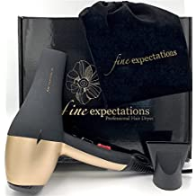 LIMITED TIME SPECIAL! PROFESSIONAL CERAMIC HAIR DRYER - Advanced Infrared and Ionic Blow Dryer with Long-Life Salon A/C Motor, Very Hot, Hot, Cool AND Instant Cool Shot, 1900W 8' Cord, Velvet Pouch