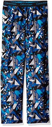 Calvin Klein Little Boys Shatter Printed Sleep Pant, Blue, 5/6