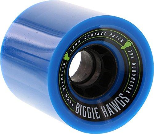 Hawgs Wheels Biggie Blue Skateboard Wheels - 70mm 78a (Set of 4) (Hawgs Longboard Wheel)