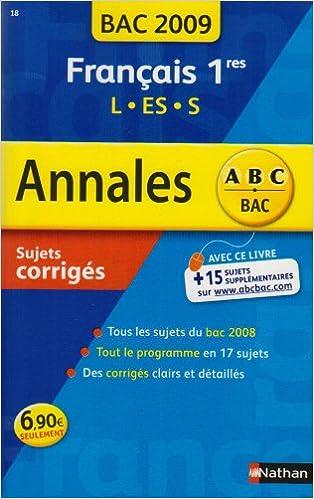 Livre Français 1e L, ES, S pdf, epub ebook