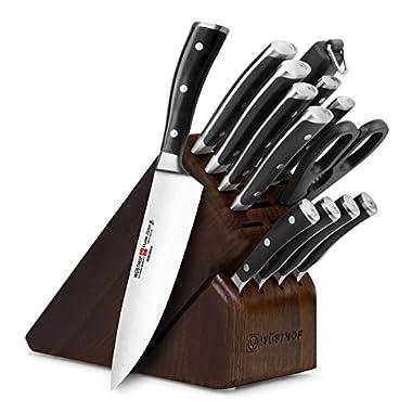 Wusthof Classic Ikon 14-piece Walnut Knife Block Set