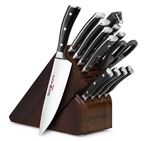 Wusthof Classic Ikon 14-piece Walnut Knife Block Set
