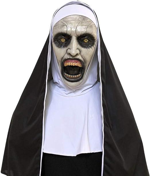 Máscara de Halloween de Watopi Nun, máscara de Terror para Cosplay ...