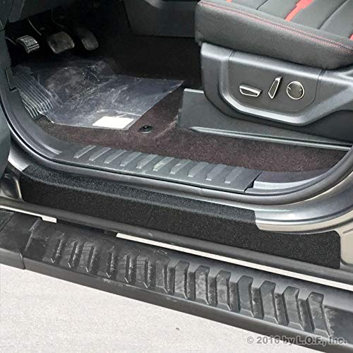 (Luyao Door Sill Protect Threshold Step Pad Custom Fits 2015-2018 Ford F-150 Crew Cab)