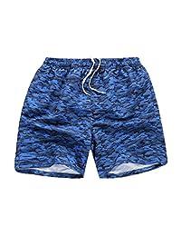 MADHERO Men's Swim Trunk Mesh Brief Swim Shorts with Pockets