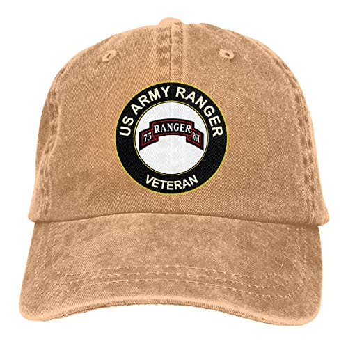 FAYAFIRE US Army Veteran Airborne 75 Ranger RGT Adjustable Baseball Cap Dad ()