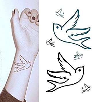 Arte Corporal Pegatinas Tatuaje removibles temporales Pájaro ...