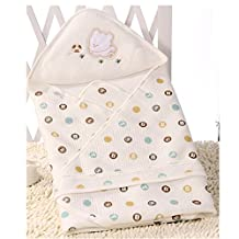 KAKA(TM) Spring and Summer Thin section blankets bamboo fiber /Cotton swaddle Cute pattern /Nursery swaddling blankets- Yellow (31.5*31.5 inch )