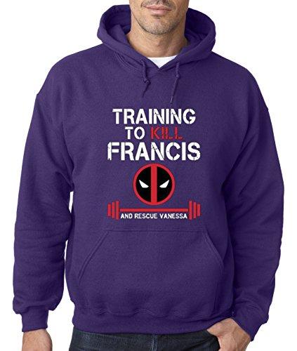 New Way 429 - Hoodie Training To Kill Francis Deadpool Marvel Workout Gym Unisex Pullover Sweatshirt 3XL Purple