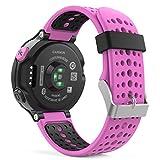 Garmin Forerunner 235 Accessories, MoKo Soft Silicone Replacement Watch Band for Garmin Forerunner 235 / 220 / 230 / 620 / 630 / 735 Smart Watch - Rose RED