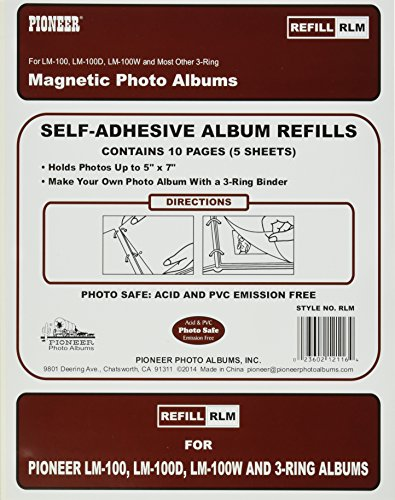 Refill Pages for LM-100, LM-100D and LM-100W Photo Albums, 10 Pages (5 Sheets)