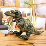 VANVO Jurassic World Dinosaur Plush Toys Real Life Plush T-rex/Seismosaurus/Stegosaurus/Spinosaurus Kids Toys Stuffed Animal Dolls (Trex 50cm, Small Size)