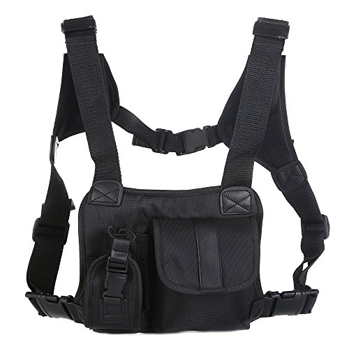 nds Free Chest Pocket Harness Bag Holster Holder Vest Rig for Two Way Radio ( Rescue Essentials) ()