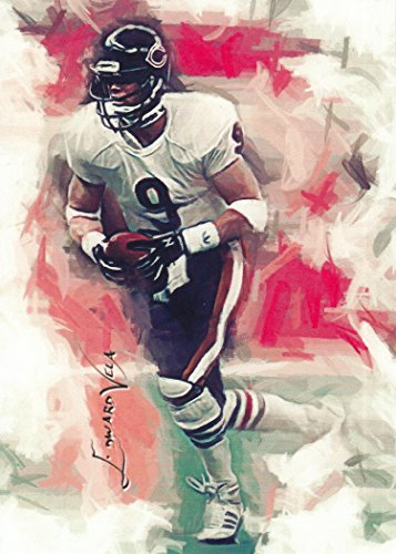 Jim McMahon #3- #12/25 - VERY RARE - Chicago Bears - SUPER BOWL -The Punky QB- Limited Edition Original Artwork Sketch Card