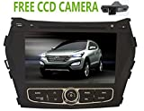 Car Dvd Gps for Hyundai IX45 SantaFe Santa fe 2013 2014 with Bleutooth Avin Dual Zone Ipod Support A2dp 8gb free Noth American map Free CCD Camera
