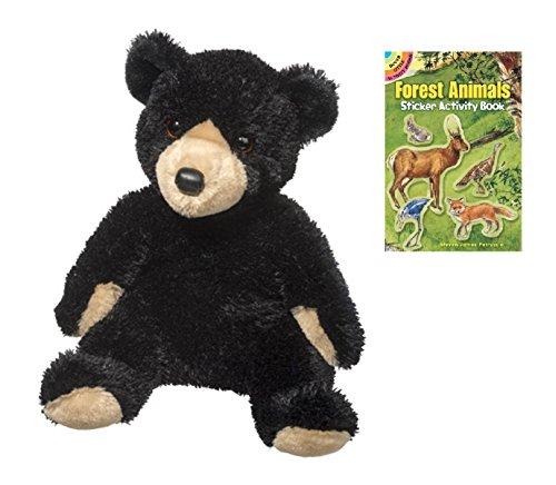 Douglas Bjorn Black Bear Pudgies Plush Stuffed Animal with Sticker Book - Pudgy Pig Costume
