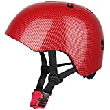 Six Foxes Cycle Helmet Kids Boys Girls Cycling Helmet Bicycle Helmet for Age 3-8 Year, 48-54 cm (Red)