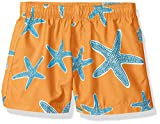Kanu Surf Baby Boys Starfish Sea Life Quick Dry Beach Board Shorts Swim Trunk, Orange, 24 Months
