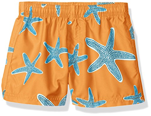 Kanu Surf Baby Boys Starfish Sea Life Quick Dry Beach Board Shorts Swim Trunk, Orange, 24 Months by Kanu Surf