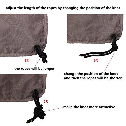 Drawstring Backpack Sports Gym String Bag Cinch Sack Gymsack Sackpack Waterproof (Green) by Amatory (Image #6)