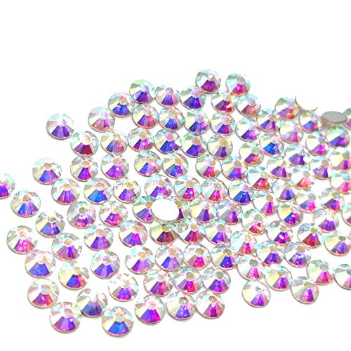 20ss Flat Back Crystals - 1440pcs 20ss 5mm Rhinestones Nail Crystals AB Nail Art Rhinestones Round Flatback Glass Gems Stones Beads for Nails Decoration Crafts Eye Makeup Clothes Shoes Vases (1440pcs SS20)