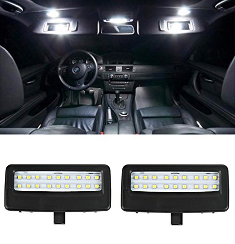 2Pcs 3528 SMD 6500K LED Vanity Mirror Lamp Kit for BMW F01 F02 F07 F10 F11, YANF Car Interior Reading Light Sun Visor Lamps OEM Replacement Lighting Assemblies