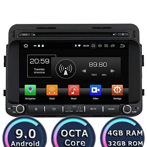 (ROADYAKO 8Inch Car PC for Kia K5/Optima 2014 2015 2016 Android 9.0 Car Radio Stereo with GPS Navigation 3G WiFi Mirror Link RDS FM AM Bluetooth AUX Multimedia Audio Video)