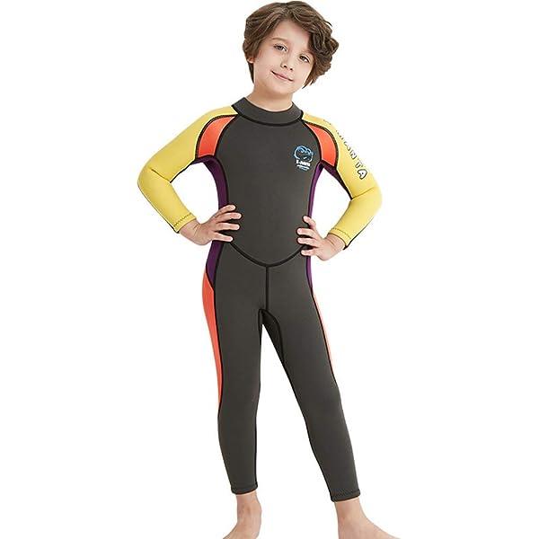 Kids Girls Dive Wetsuit Neoprene Warm Swimsuit Zipped Stretch Beach Swimwear