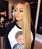 Wowsexy Hair Full Lace Wigs For Black Women 100% Brazilian Virgin Human Hair Straight 4/27# Glueless 130% Density with Baby Hair
