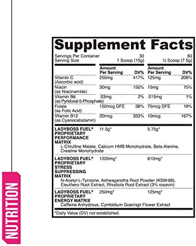 Premium Pre Workout Energy Supplement for Women - LadyBoss FUEL - Top Rated & Powered By Science - Effective, Powerful - Watermelon Candy Flavor - Focus, Strength & Endurance - 30 Servings 4