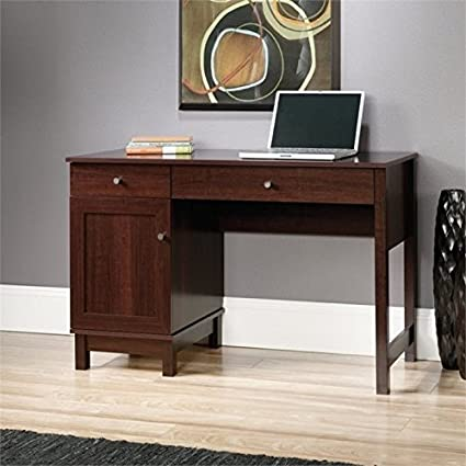 Amazoncom Pemberly Row Home Office Desk In Cherry Kitchen Dining
