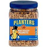 Planters Peanuts, Honey Roasted & Salted, 34.5 Ounce Jar