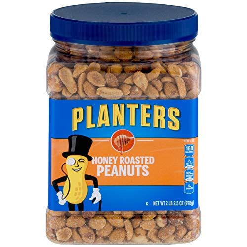 Planters Honey Roasted Peanuts (34.5oz, Pack of 2) (Best Canned Food For Humans)