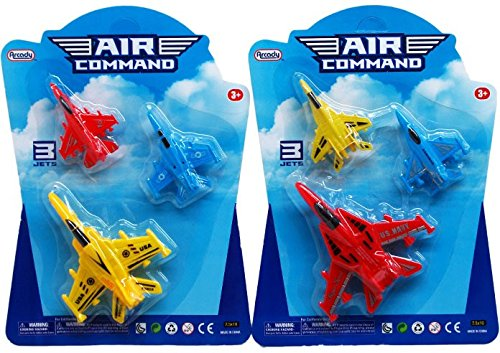 """3-Piece 3""""-4"""" Pull Back Action Airplanes - CASE of 72 from D&D"""
