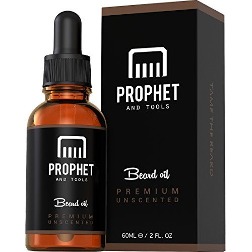 Prophet and Tools Best Selling Men's Beard Oil Now In 60ML | Best Mustache & Goatee Growth Oil | Leave-In Conditioner and Softener | 100% Natural & Organic Mens Facial Hair Product | With FREE E-Book