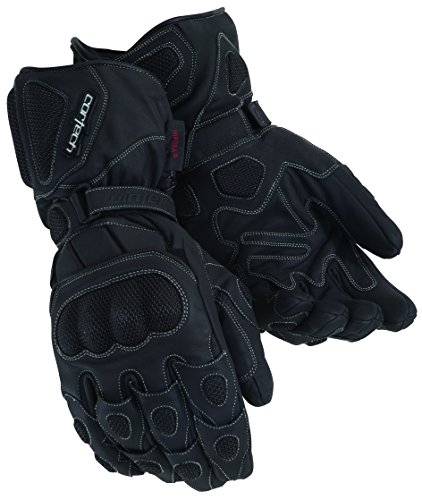 Cortech Scarab Leather Winter Motorcycle Gloves Black Size X-Small ()