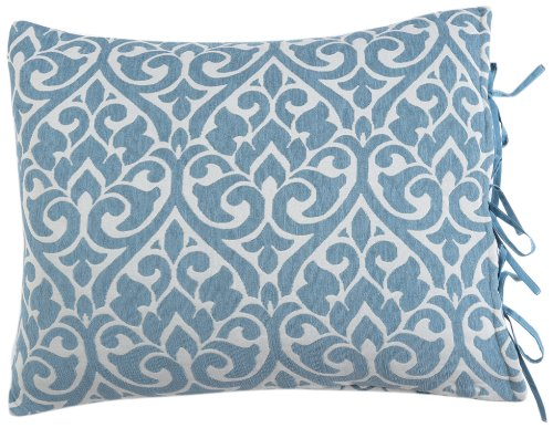 Stylemaster Home Products Twill and Birch Bryce Reversible Chenille Sham, Standard, Sea Breeze